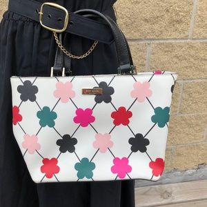NWT Kate Spade Bright Criss Cross Satchel Bag